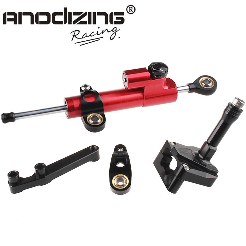 ФОТО CNC Steering Damper Set for Kawasaki EX NINJA 250R 2008-2012 with bracket kits