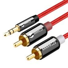 RCA 3.5mm câble jack 2 RCA mâle à 3.5mm câble Audio mâle 1M 2M 3M câble Aux pour Edifer Home cinéma DVD casque PC