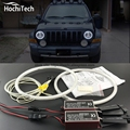 HochiTech ccfl angel eyes kit branco 6000 k anéis ccfl de halo farol para Jeep Liberty KJ 2000 2001 2002 2003 2004 2005 2006 2007