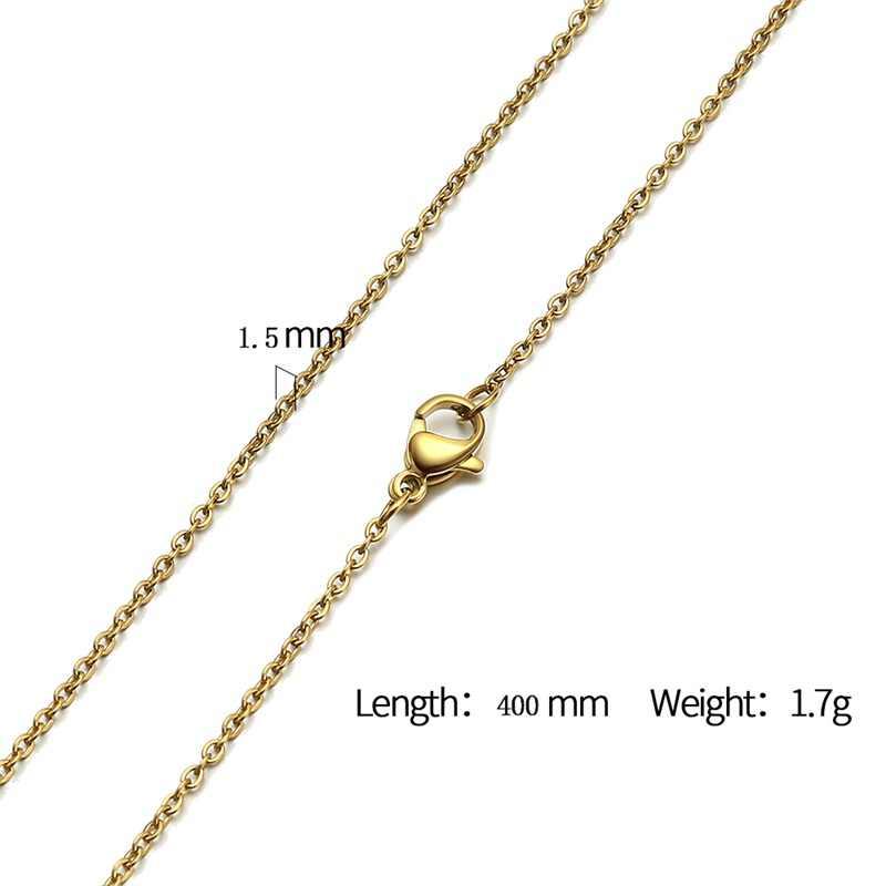 עזיז BEKKAOUI בסיסי נשים עגולים מיאמי קובני קישור שרשרת זהב וכסף נירוסטה זכר תכשיטי 1.5 -3mm