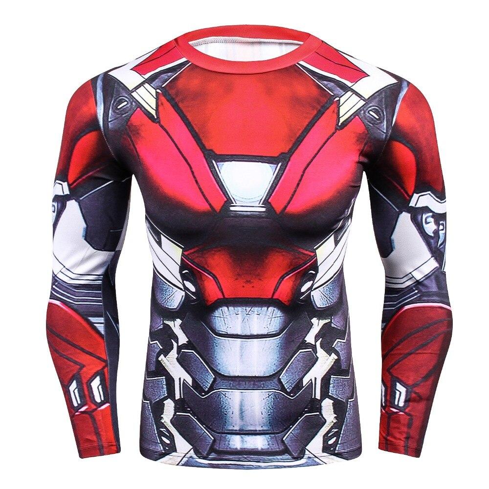 Ironman erstaunliche 3D druck Compression T-Shirt Männer Rashguard Fitness mit Langen ärmeln Base Layer Skin Tight Gewichtheben T shirts