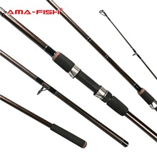 AMA-Fish 100% Original Russia Brand Spinning Rod 3.3m Lure Rod 3 Sections Glass Fiber Line Weight 2.75lb Spinning Fishing Rod