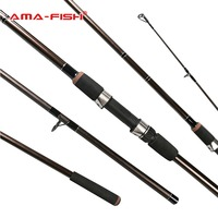 AMA Fish 100 Original Russia Brand Spinning Rod 3 3m Lure Rod 3 Sections Glass Fiber