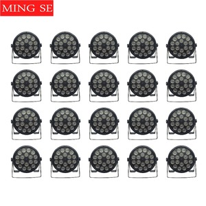 20 unidades/lotes 18x12w painel plano conduziu a lâmpada 18*12w rgbw 4in1 par dmx512 discoteca lâmpada estágio profissional dj equipamentos