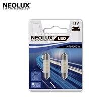 Светодиодная лампа Neolux NF6436CW-02B C5W цвет холодный белый 12В 0.5Вт 6000K (2 шт)