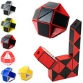 Newest Funny Shengshou Professional Speed Magic Snake Shape Toys Game Twist Cube Puzzle Toys Gift For Kids 6 Colors Hot -50