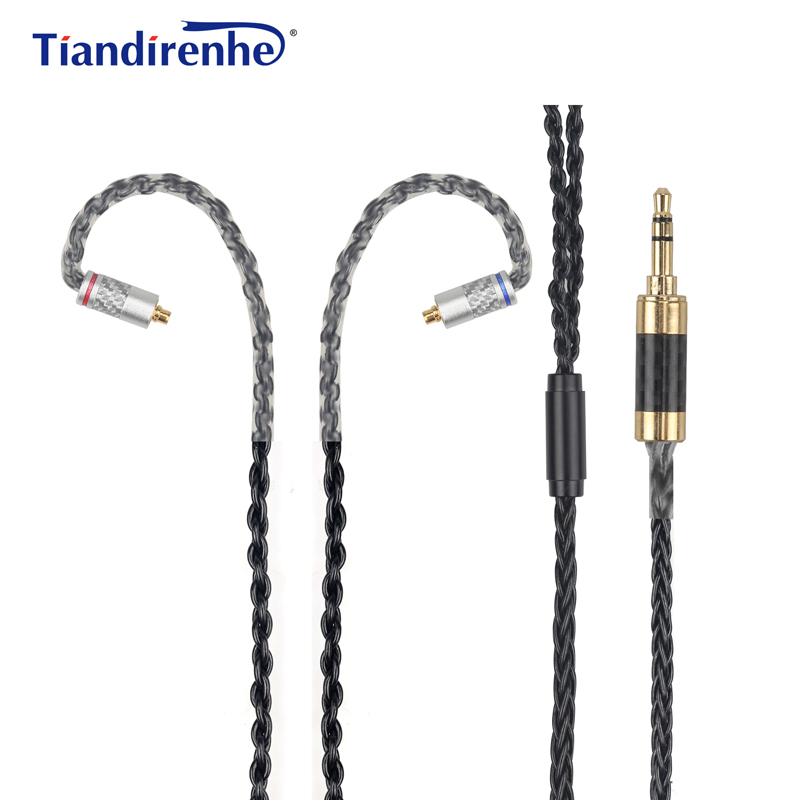Upgrade DIY MMCX Cable for Shure SE215 SE535 SE846 Earphone 56 Cors Carbon AUX 3.5mm Headphone Wire for iPhone xiaomi Computer настенный светильник eglo grafik 91245