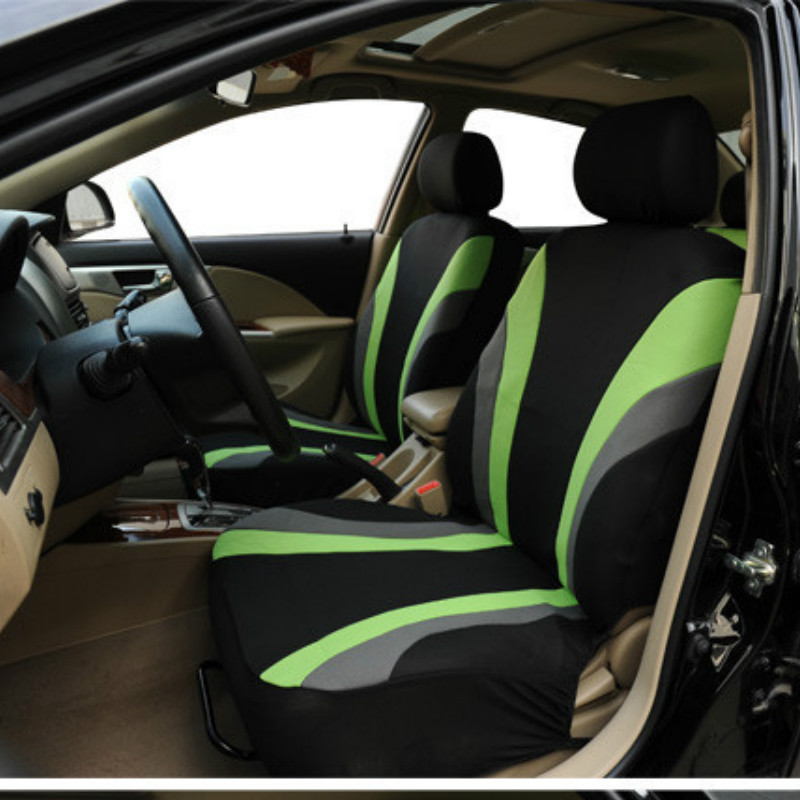 LDDCZENGHUITEC green grey black Vehicles Seat Covers Supports Set for Lada Granta Car Seat Covers for Car Seat Protector