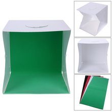 42*42cm Professional Portable Mini Photo Studio Box Photography Backdrop built-in Light Photo Box with 4 colors background
