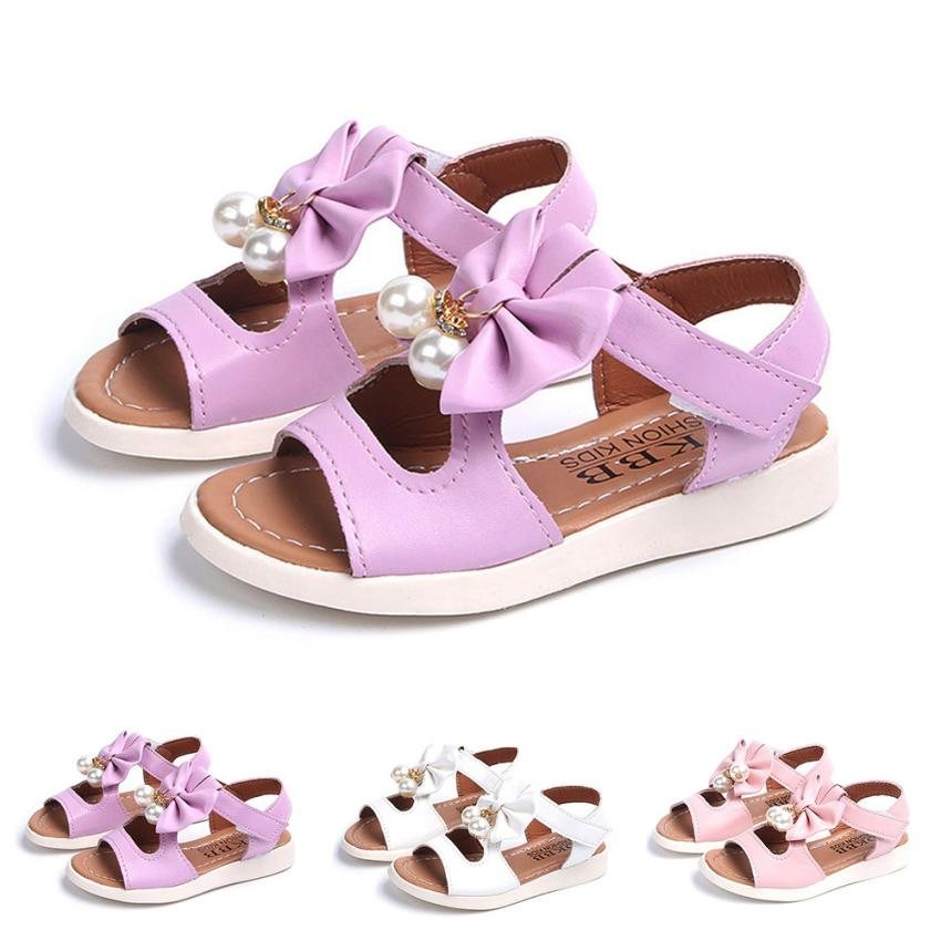 mini melissa shoes for girls jelly shoes Children Sandals Bowknot Flat Pricness kids beach shoes Pearl toddler girl summer shoes