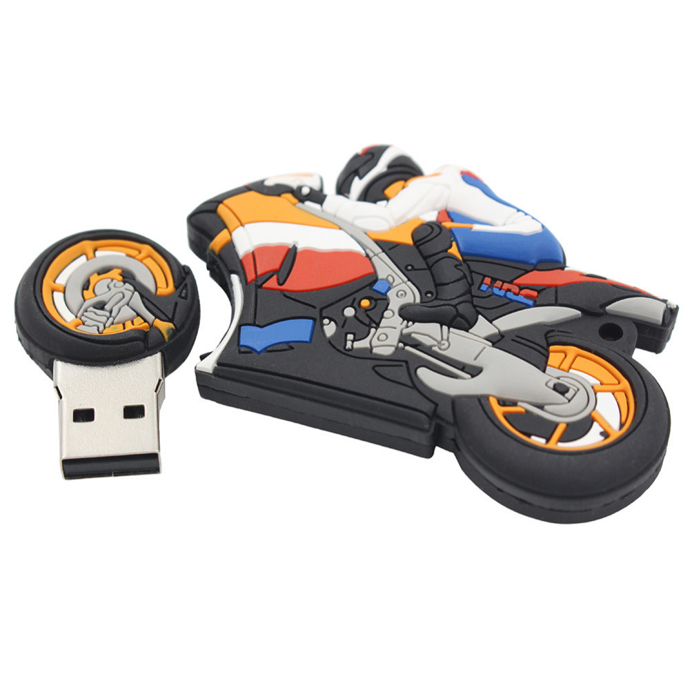 2016 New Cartoon Motorcycle styling USB Flash Drive 4GB/8GB /16GB/32GB/64GB Pen Drive USB 2.0 Memory Flash Stick usb Flash