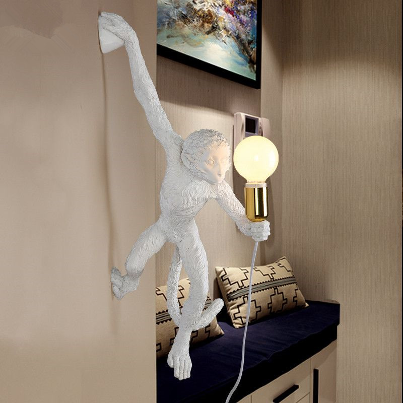 new design kitsch and quirky simple art nordic white replicas resin seletti hanging monkey wall. Black Bedroom Furniture Sets. Home Design Ideas