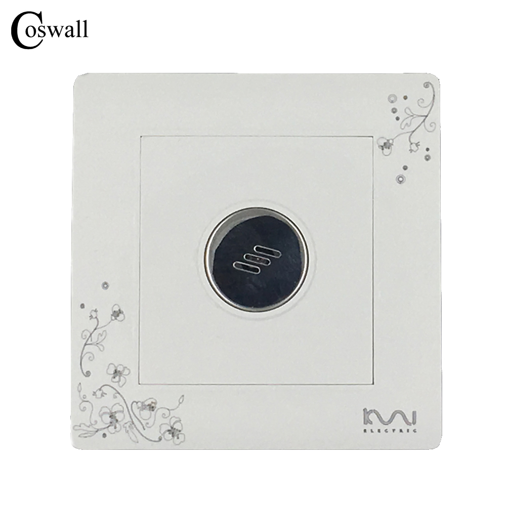 COSWALL Luxury Wall Timer Switch Sound and Light Control Time Delay Switch AC 110~250V Ivory White C30 Series high quality sound and light control switch delay 60s sensor switch 220v ac 50hz 60w 25w 5w 95db 75db free shipping