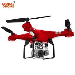 Global Drone GW-X2 RC Dron with 5MP Wide-Angle 1080P Camera HD 2.4G 4CH Remote Control Hover FPV Quadrocopter VS SH5