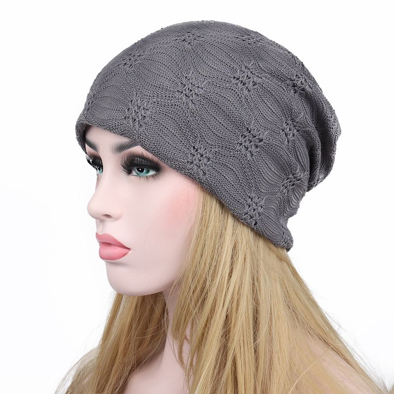 Women Cap Autumn 4 Colors Skullies Solid Color Women's Hat Knitted Beanie Double Layer Hats For Women Gorro Feminino Beanies women cap skullies