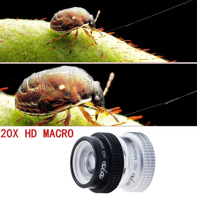 20X Macro lens for iPhone Camera Lens Professional Super Macro 20X for iPhone 5 6 6s plus Lense with Plate lens APE-20X