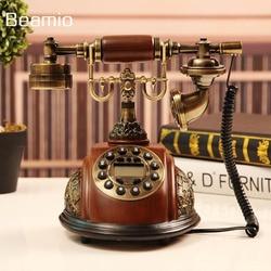 Imitation Wood Retro Vintage Antique Telephones Continental landline Phone Technology Telephone