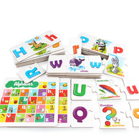 Kids Early education Puzzle English alphabet pairing /Letter Matching Card, children classic jigsaw puzzle Teaching Resource