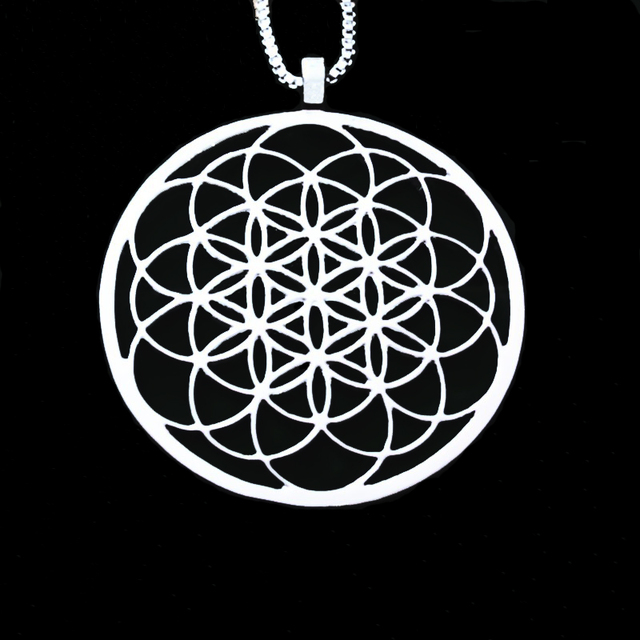 Seed of life necklace geometric pendant sacred geometry flower of seed of life necklace geometric pendant sacred geometry flower of life necklaces pendants with 60 aloadofball Gallery