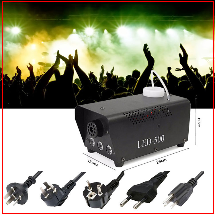 fast shipping disco colorful smoke machine mini LED remote fogger ejector dj Christmas party stage light fog car (1)