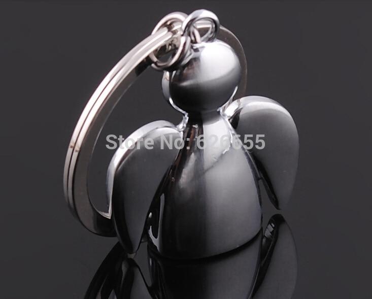 Free shipping 100 pcs lot Festival Gift Metal Key Chains Key Ring Angel Keychains wedding gift