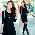 Plus Size Women Lace Knit Pullover Long Shirt Sweater Dress Winter Basic Sweater Loose Knitted Sweater 3 Colors 12