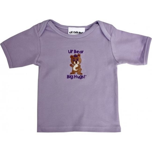 Lil Cub Hub 5CSSTGBL-1824 Lavender Short Sleeve T-Shirt – Girl Bear 18-24 months