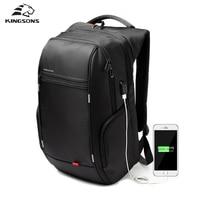 Kingsons Anti Thief USB Charging Laptop Backpack Female For Women Men Backpacks School Backpack Bag For