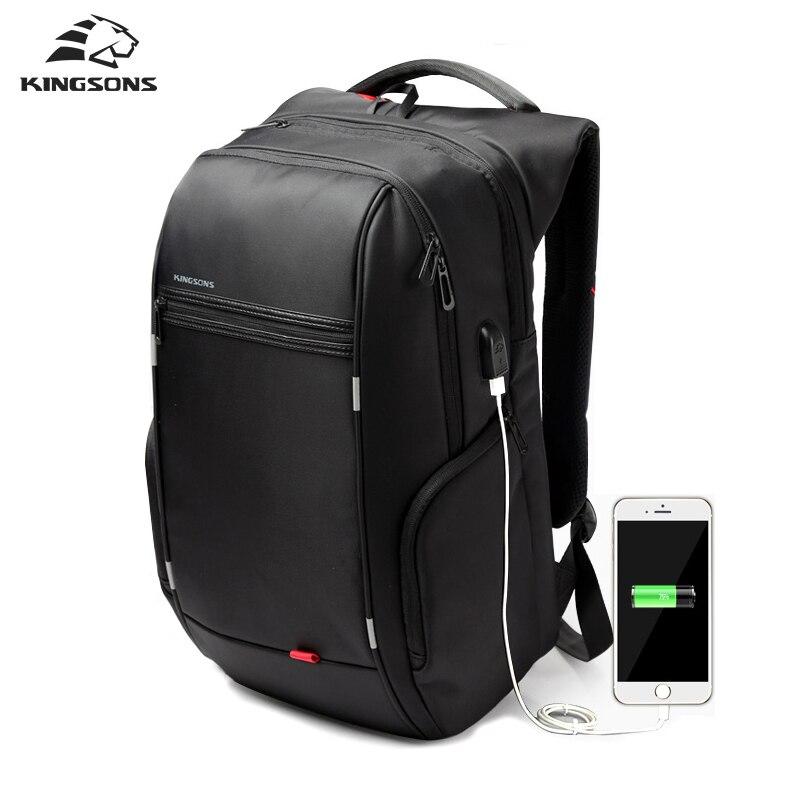 c08b2421d Kingsons Anti ladrão de carregamento USB laptop mochila feminina para mulheres  Homens Mochila mochilas escolares mochila para o Sexo Masculino antirrobo  em ...