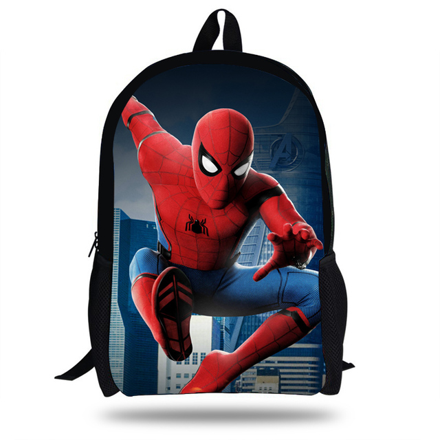 16inch Hot Sale Spiderman Backpack For Teens Boys Girls Character Superhero  Bag For Children Students School Book Bags For Kids 25b05caa2c64b