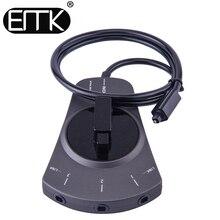 EMK 3-Way Interruptor Interruptor Toslink SPDIF Óptica De Áudio Digital Toslink Cabo Seletor Switcher Hub Box para DVD e CD jogador