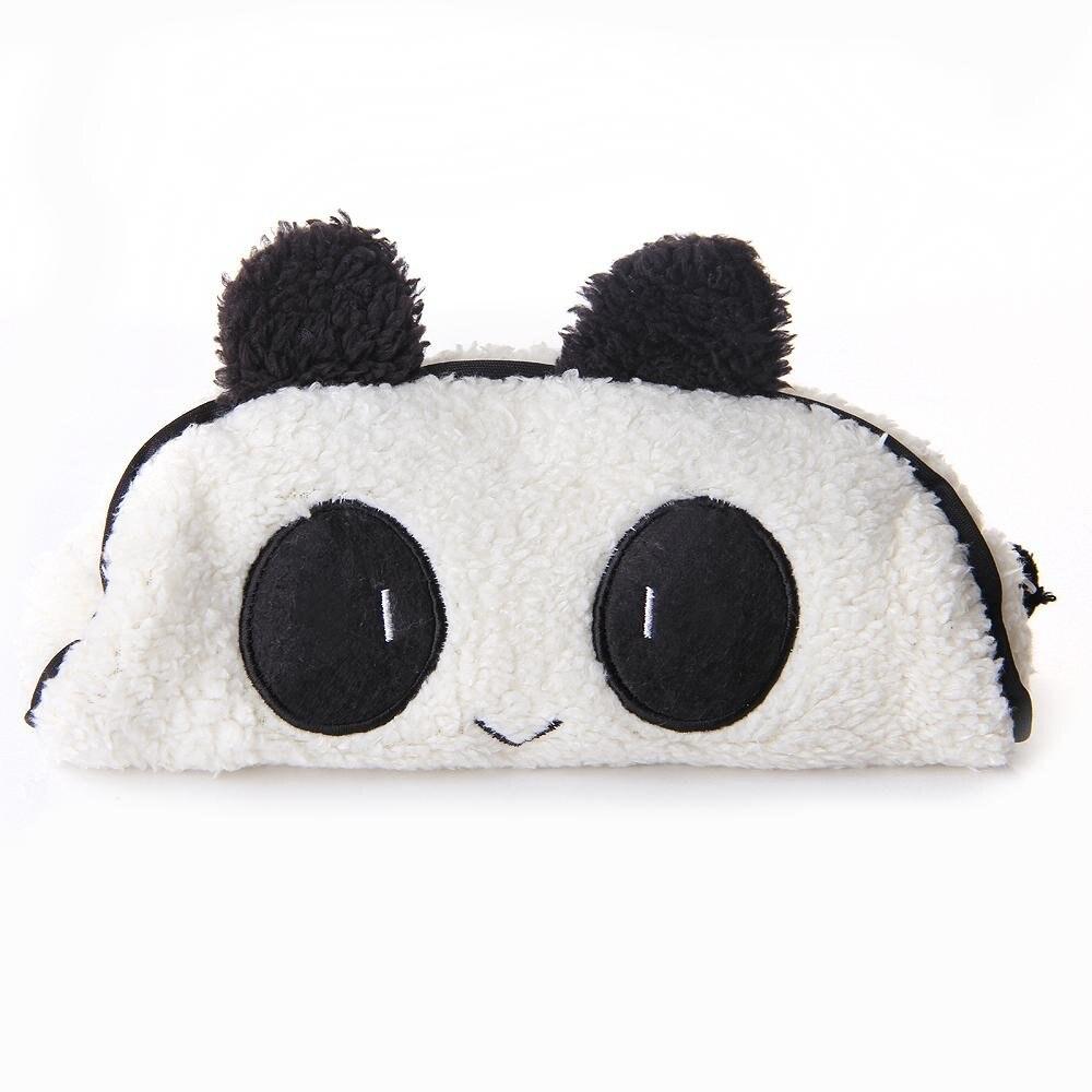 Asequible Panda lápiz bolsa papelería bolso cosmético 21x12.5x3 cm ...