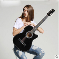Andrew Authentic Stores 38 Inch Acoustic Guitar Beginner Beginners To Practice Musical Instruments Wooden Guitar Jita