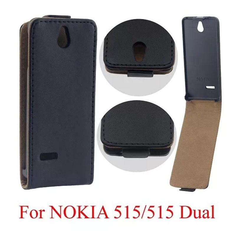 Vertical PU Leather Flip Case Fundas Capa For Microsoft Nokia Lumia 515 N515 Cover TPU Case Up-Down Open skin pouch Phone Bags