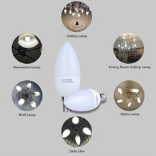 E14 Led Candle Bulb Energy Saving Lamp Lights 3W 5W E14 220V LEDs Chandelier Light Spotlight Bombilla Led for Home Decoration