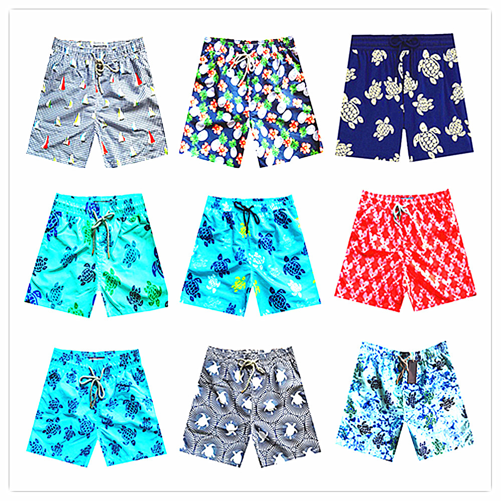 Mens Swim Trunks Color Owl Art Quick Dry Beach Board Shorts with Mesh Lining