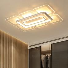 Ultra-thin White LED Modern Ceiling Lights Plexiglass Lamp Dining Room Foyer Bedroom lamparas de techo avize led lamp