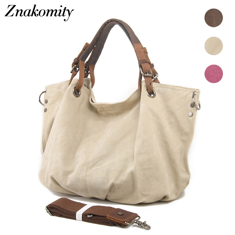 Znakomity Large shoulder bag canvas handbag women 2018 New style retro canvas bag women's Fashion hobo tote canvas bag purse srjtek 10 1 for lenovo yoga b8080 tablet 10 b8080 10 hd lcd display with touch screen digitizer sensor full assembly tablet pc