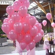 Różowe balony 10 sztuk 12 Cal grube 2.2g dekoracje ślubne lateks balon z okazji urodzin strona balon nadmuchiwane helem balony