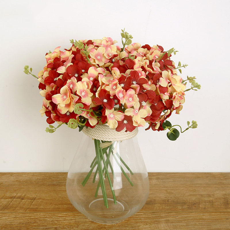 Home decoration flowers artificial hydrangea flower 5 big for Artificial flower for wedding decoration