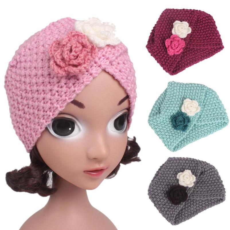 Black, Gray, Red, Pink Blue, Beige Children Baby Girls Knitting Hat Beanie Turban Head Wrap Cap Pile Cap gorras infantil #JD828