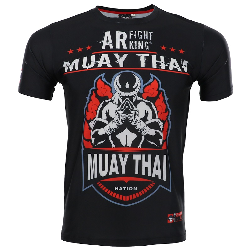 ROLLHO MMA Rashguard Muay Thai T Shirt Shorts Suit Printed Elastic Compression BJJ MMA Short Boxing Jersey Fitness Gym Training