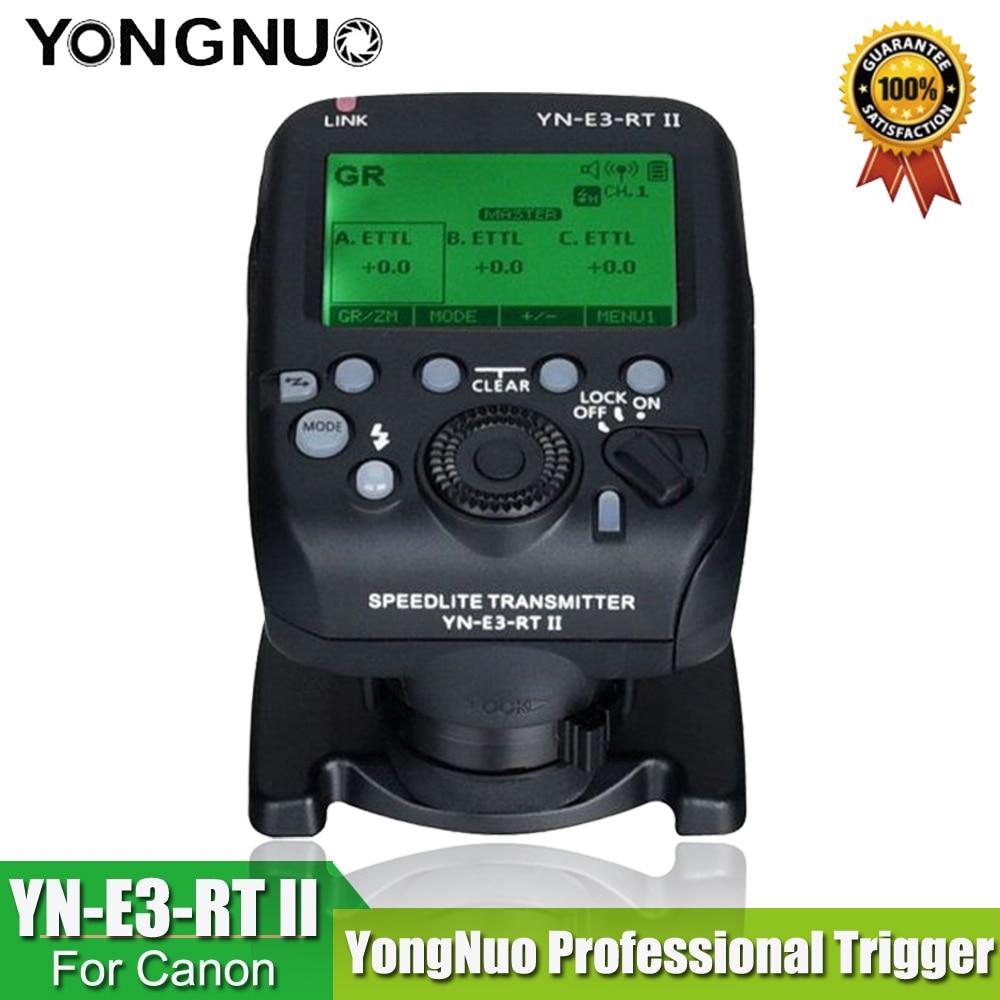 YONGNUO YN-E3-RT II Transmisor Speedlite con activador de radio TTL como ST-E3-RT para Canon 600EX-RT, YONGNUO YN600EX-RT