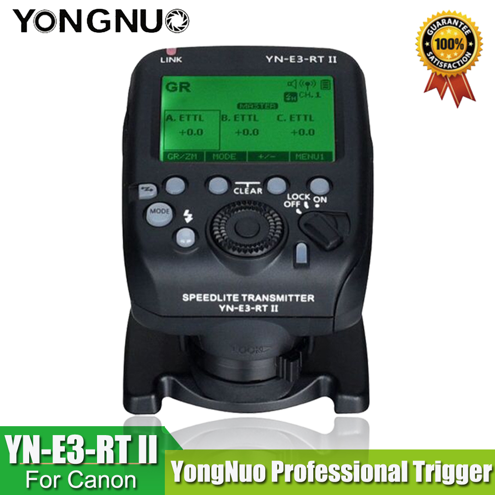 YONGNUO YN-E3-RT II TTL रेडियो ट्रिगर स्पीडलाइट ट्रांसमीटर ST-E3-RT कैनन 600EX-RT, YONGNUO YN600EX-RT