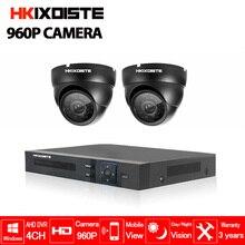 Security Camera System 4ch CCTV System DVR DIY Kit 2x 960P Security Camera 1.3mp Camera Surveillance System indoor outdoor