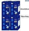 20 шт./пакет 60 см * 60 см Одноразовые Абсорбент underpad для пожилых беременных and роженица Аудита подгузники кормящих pad