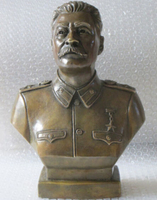 12Western Art Bronze Copper sculpture Joseph Stalin Bust statue