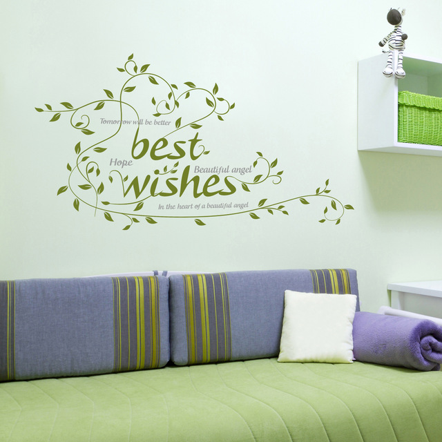 Us 529 Die Neue Können Entfernen Die Grüne Wand Kleben Ein Wohnzimmer Dekoration Aufkleber Hersteller Großhandel Und Besten Wünsche In Die Neue