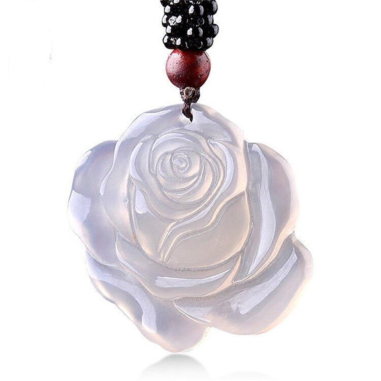 Koraba Fine Jewelry Natural White Agate Rose Peony Flower Pendant Fashion Necklace Pendant Free ShippingKoraba Fine Jewelry Natural White Agate Rose Peony Flower Pendant Fashion Necklace Pendant Free Shipping