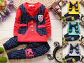 Primavera Outono Conjuntos de Roupas de Natal Das Crianças Do Bebê Meninos/meninas Terno Ajustado Crianças Cavalheiro Amarrar Esporte Conjunto Terno Colete Camisa + calças